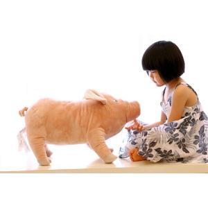 豚猪 クッション 抱き枕 オフィス用にも いのししの ぬいぐるみ 55cm|lovesound