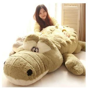 ぬいぐるみ ワニ/鰐 特大 2色 90cm 可愛いわに抱き枕/プレゼント/ふわふわぬいぐるみ