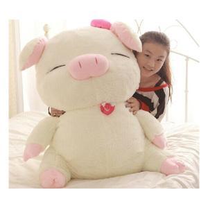 ぬいぐるみ ブタ ぬいぐるみ 特大 豚 大きいぶた/抱き枕/クマ縫い包み/プレゼント/ふわふわぬいぐるみ (110cm)|lovesound