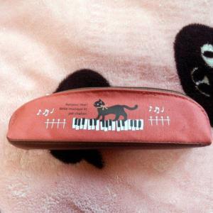 黒猫ミィー P/Vペンケース/ピアノ メール便○|lovexclp