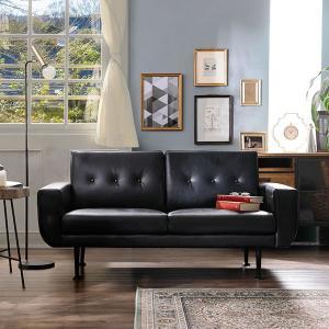 北欧デザイン家具のような「くるみボタン」ソファに、上品なスチール脚をつけ甘すぎないシックなソファに仕...