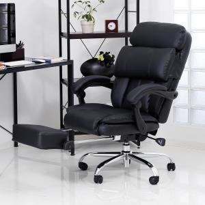 オフィスチェア リクライニング 肘付 ハイバック ゲーミング おしゃれ PC パソコン チェアー 高反発 椅子 フットレスト 足置きの写真