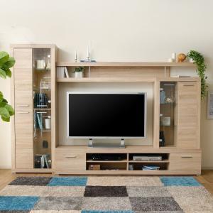 テレビ台 収納付き おしゃれ 壁面ハイ TVボードセット 壁面ラック 棚 収納家具 TVラック ハイタイプ (ウォールシェルフ) オープン シンプルの写真