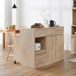 キッチンカウンター カウンターテーブル おしゃれ 作業台 間仕切り 収納 食器棚 119 アイランドキッチン レンジボード ロウヤ LOWYA 会員の写真