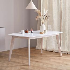 ダイニングテーブル 単品 幅150cm 高さ70cm ダイニング テーブル単品 木製 天然木 白 カ...