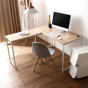 パソコンデスク 机 幅140cm ライティング オフィス ワーク L字 コーナー つくえ 勉強 台 L字型 おしゃれの写真
