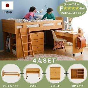 ベッドもデスクも収納もこれ一つでOK!組み換え自由自在な国産システムベッドです。  ■サイズ 幅20...