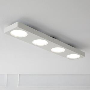 モダンな長方形デザインの4灯LEDシーリングライトです。  【サイズ】 幅100x奥行20x高さ8....