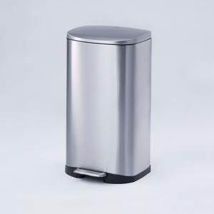 【容量35L】金属の質感がオシャレで、スタイリッシュなデザインのフットペダル式ダストボックスです。 ...