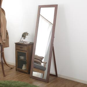 木製スタンドミラー 鏡 全身姿見 全身鏡 ナチュラル おしゃ...