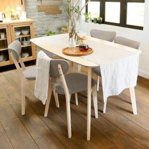 ダイニングテーブルセット 5点セット 幅140cm 5点 4人掛け 木製 チェア テーブル ファミリ...