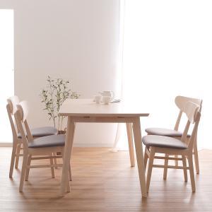 ダイニングテーブル ダイニング5点セット 4人掛け ダイニングテーブルセット 120cm幅 伸長 伸縮 ダイニング テーブル チェア おしゃれ ロウヤ LOWYAの写真