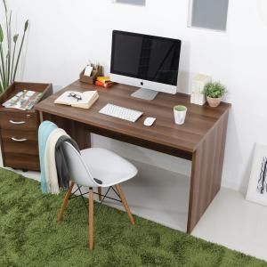 デスク パソコンデスク 机 幅120cm ライティング オフィス PC おしゃれ 木製 事務机 ワーク 省スペース ロウヤ LOWYAの写真