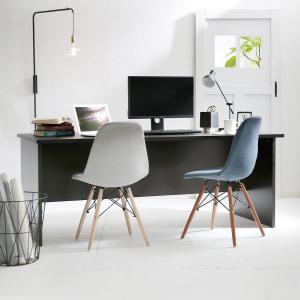 デスク パソコンデスク 机 幅180cm ライティング オフィス PC おしゃれ 木製 事務机 ワーク 省スペースの写真