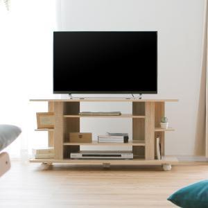 テレビ台 キャスター付 コーナー 100cm 収納 おしゃれ コンパクト テレビボード 木製 ロウヤ LOWYAの写真
