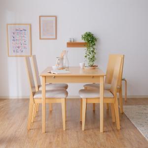 ダイニングテーブルセット 5点セット 伸縮タイプ カフェ 木製 オブジェ/4人掛け おしゃれ ロウヤ...