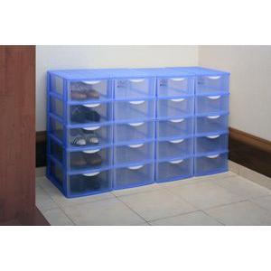 樹脂製シューズボックス 4個セット ラベンダー|lowprice