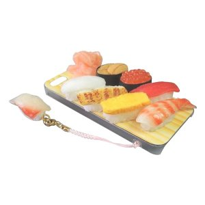 日本職人が作る  食品サンプルiPhone5ケース ミニチュア寿司  ストラップ付き  IP-211|lowprice
