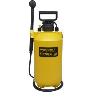 蓄圧式 ポータブルシャワー/ガーデニング用品 〔7L〕 軽量 電力不要 肩掛けストラップ付き 〔洗車 散水 清掃〕 lowprice