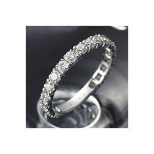 プラチナPt900 ダイヤリング 指輪 1ctエタニティリング 9号 (鑑別書付き) lowprice