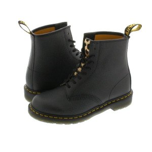 Dr.Martens 8EYE BOOT 1460 338113 【STUSSY】  ドクターマーチン 8アイ ブーツ BLACK/LEOPARDO|lowtex