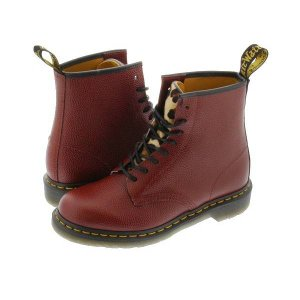 Dr.Martens 8EYE BOOT 1460 338113 【STUSSY】 ドクターマーチン 8アイ ブーツ CHERRY RED/LEOPARDO|lowtex