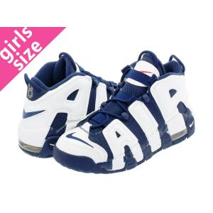 NIKE AIR MORE UPTEMPO GS OLYMPIC ナイキ モア アップ テンポ GS WHITE/MIDNIGHT NAVY/GOLD/RED レディース スニーカー ハイカット 415082-104|lowtex
