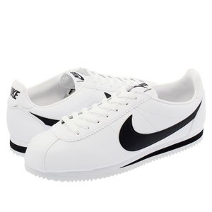 NIKE CLASSIC CORTEZ LEATHER ナイキ クラシック コルテッツ レザー WHITE/BLACK|lowtex