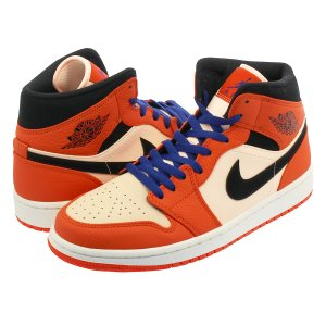 NIKE AIR JORDAN 1 MID SE ナイキ エア ジョーダン 1 ミッド SE TEAM ORANGE/BLACK/CRIMSON TINT 852542-800|lowtex