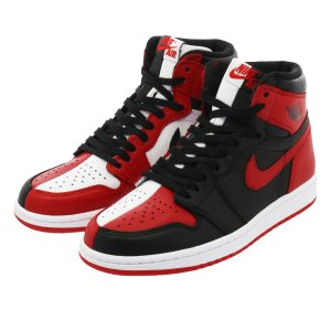 メンズ スニーカー ナイキ エア ジョーダン 1 レトロ ハイ OG NIKE AIR JORDAN 1 RETRO HIGH OG HOMAGE TO HOME BLACK/WHITE/UNIVERSITY RED|lowtex