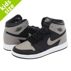 キッズサイズ  NIKE AIR JORDAN 1 RETRO HIGH OG BP SHADOW ナイキ エア ジョーダン 1 レトロ ハイ OG BP BLACK/MEDIUM GREY/WHITE aq2664-013|lowtex