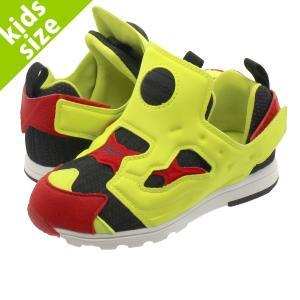 子供 靴 キッズ スニーカー おしゃれ 11.0〜16.0cm リーボックバーサ ポンプ フュ−リー Reebok VERSA PUMP FURY BLACK/HYPER GREEN/RED/WHT