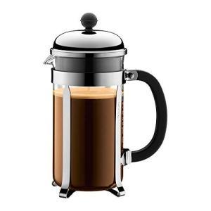 人気・ボダムジャパン 【正規品】 BODUM ボダム CHAMBORD コーヒーメーカー 1.0L 1928-16 J  シルバー 14.1×10.7|ls-store