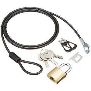 人気・エレコム セキュリティロック ワイヤー (1.7m/径4mm) ディンプル南京錠 ESL-23D|ls-store