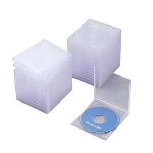 人気・エレコム DVD CDケース プラケース 標準タイプ 1枚収納 30枚パック クリア CCD-JSCN30CR|ls-store
