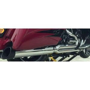 D&D Billet Cat 2:1 Full System Black 30 Angle Cut End  Harley Touring  2-1 フルエキゾーストマフラー ハーレー ツーリングモデル 09-16 15%馬力向上|ltandpjapan