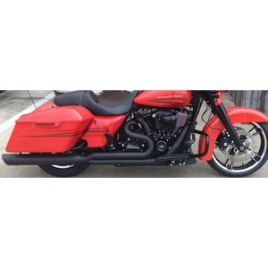 D&D M8 Billet Cat BK 2:1 Full System  30 Angle Cut End  Harley Touring  2-1 フルエキゾーストマフラー ハーレー ツーリングモデル 2017- 15%馬力向上|ltandpjapan