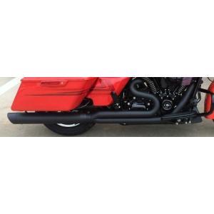 D&D Billet Cat 2:1 Black Full System  30 Angle Cut End  Harley Touring  2-1 フルエキゾーストマフラー ハーレー ツーリングモデル 09-16 15%馬力向上|ltandpjapan