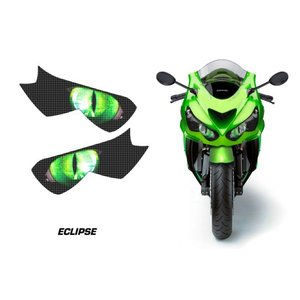 AMR Racing ヘッドライト アイ グラフィック デカール ステッカー ECLIPSE GREEN Kawasaki Ninja ZZR1400/ZX-14R 12-14 即納特価在庫品