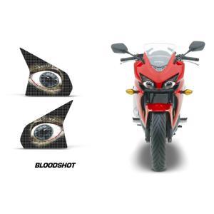 AMR Racing ヘッドライト アイ グラフィック デカール ステッカー BLOODSHOT Honda CBR400R 13-15|ltandpjapan