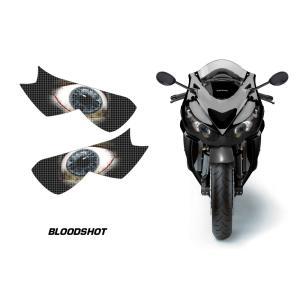 AMR Racing ヘッドライト アイ グラフィック デカール ステッカー BLOODSHOT Kawasaki Ninja ZZR1400/ZX-14R 12-14|ltandpjapan