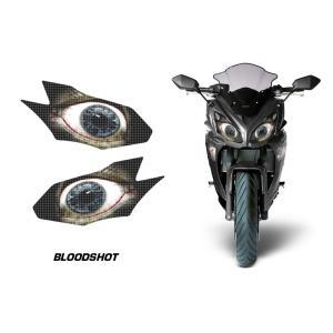 AMR Racing ヘッドライト アイ グラフィック デカール ステッカー BLOODSHOT Kawasaki Ninja650/ER6/VERSYS650 12-14|ltandpjapan