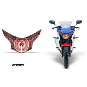 AMR Racing ヘッドライト アイ グラフィック デカール ステッカー CYBORG RED HONDA CBR250R MC41 -2013|ltandpjapan