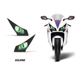 AMR Racing ヘッドライト アイ グラフィック デカール ステッカー ECLIPSE GREEN Honda CBR1000RR 12-16|ltandpjapan