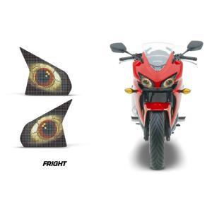 AMR Racing ヘッドライト アイ グラフィック デカール ステッカー FRIGHT Honda CBR400R 13-15|ltandpjapan