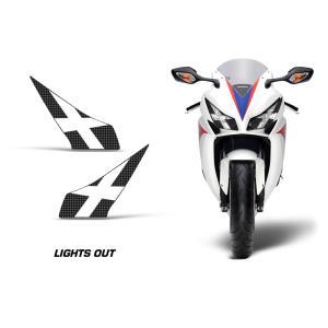 AMR Racing ヘッドライト アイ グラフィック デカール ステッカー LIGHTS OUT Honda CBR1000RR 12-16|ltandpjapan