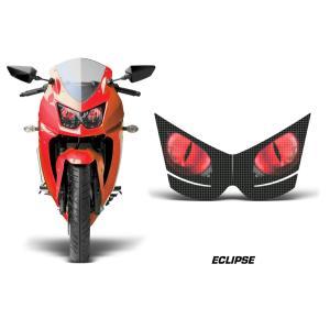 AMR Racing ヘッドライト アイ グラフィック デカール ステッカーECLIPSE RED KAWASAKI Ninja250R -2012|ltandpjapan