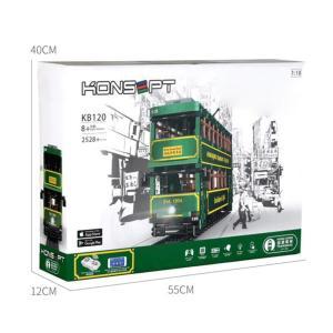 レゴ互換品 香港トラム 香港路面電車 香港電車 2528ピース ltandpjapan