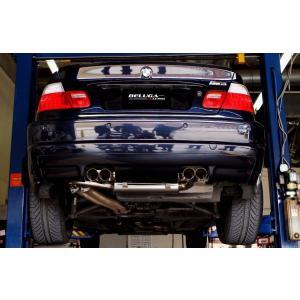 BMW E46 M3クーペ コンバーチブル 00-07 Beluga Racing リアセクションレーシングマフラー|ltandpjapan