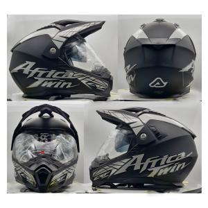 イタリア製 ACERBIS アチェルビス オフロードヘルメット アフリカツインブラック 新品未使用品 オリジナルデザイン バイク 各サイズ ltandpjapan